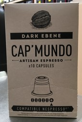 CAP'MUNDO DARK EBENE - CAPSULES CAPMUNDO COMPATIBLES MACHINES NESPRESSO - LA BRULERIE DU SENAT : cafés, thés, machines automatiques à grains Jura - Voir en grand