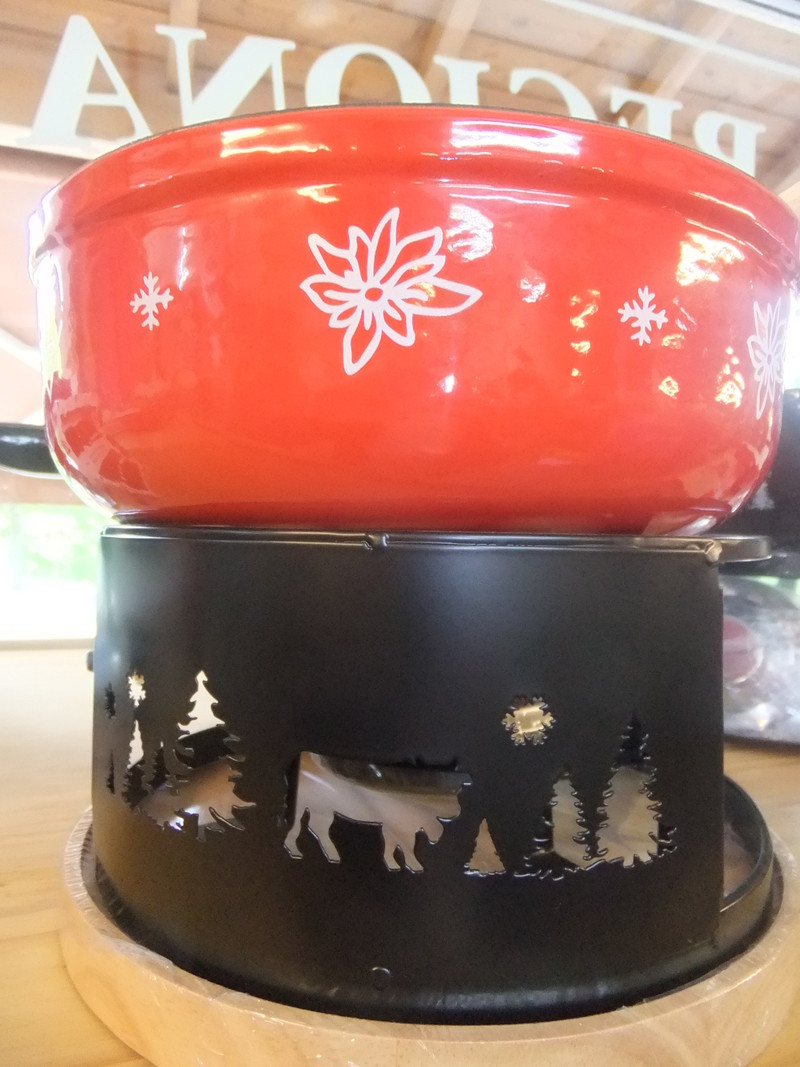 Appareil fondue raclette caquelon en fonte - Appareil a fondu en fonte ...