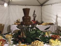 fontaine de chocolat et assortiments de fruits et financiers - Festival de musique de Bel Air - Voir en grand