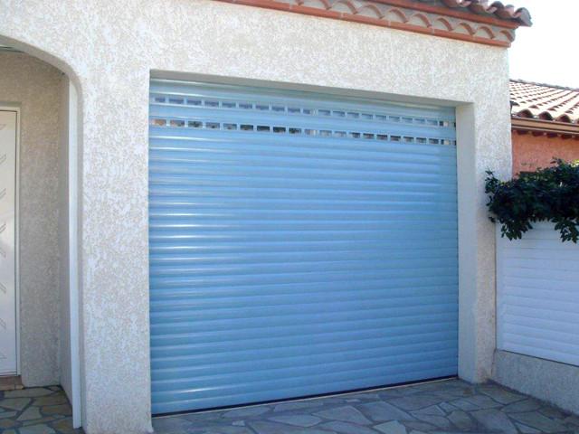 Porte de garage enroulable b1chezsoi - Pose porte de garage enroulable ...