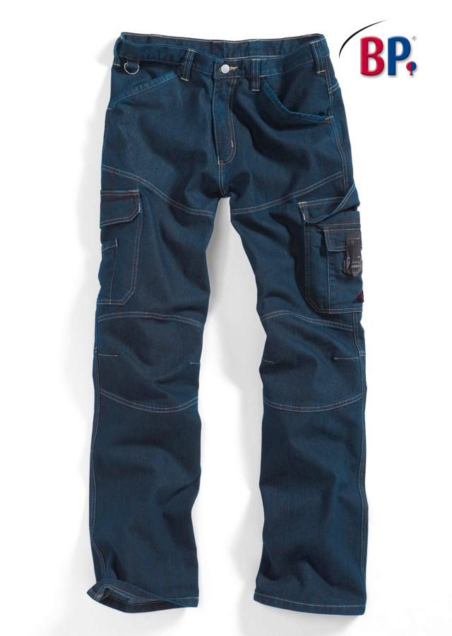 pantalon de chantier bp workfashion en denim stretch vetements de travail benoit abbaye. Black Bedroom Furniture Sets. Home Design Ideas