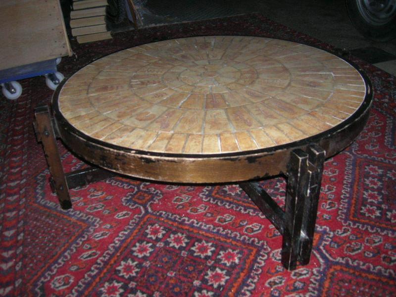 table basse sign roger capron forest antiquit s. Black Bedroom Furniture Sets. Home Design Ideas