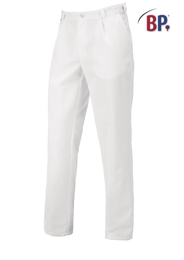 pantalon blanc pinces bp pour homme tissu stretch vetements de travail benoit abbaye. Black Bedroom Furniture Sets. Home Design Ideas