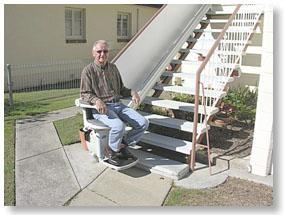 fauteuil monte escalier pour l 39 ext rieur c vennes am nagements. Black Bedroom Furniture Sets. Home Design Ideas