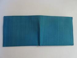 Porte-cartes-portefeuille-artisanal-coton melange-tissé-main-2tons-de-bleu-RizdeSoie-equitable.JPG - Voir en grand