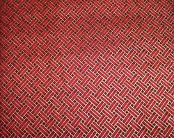 Rouge entrelacé doré - Japonais  - CARRE DE TISSU - Voir en grand