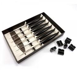 Coffret de 6 couteaux de table noir - Nontron - Olivier Gagnère - Disponible au magasin Gallazzini  - Voir en grand