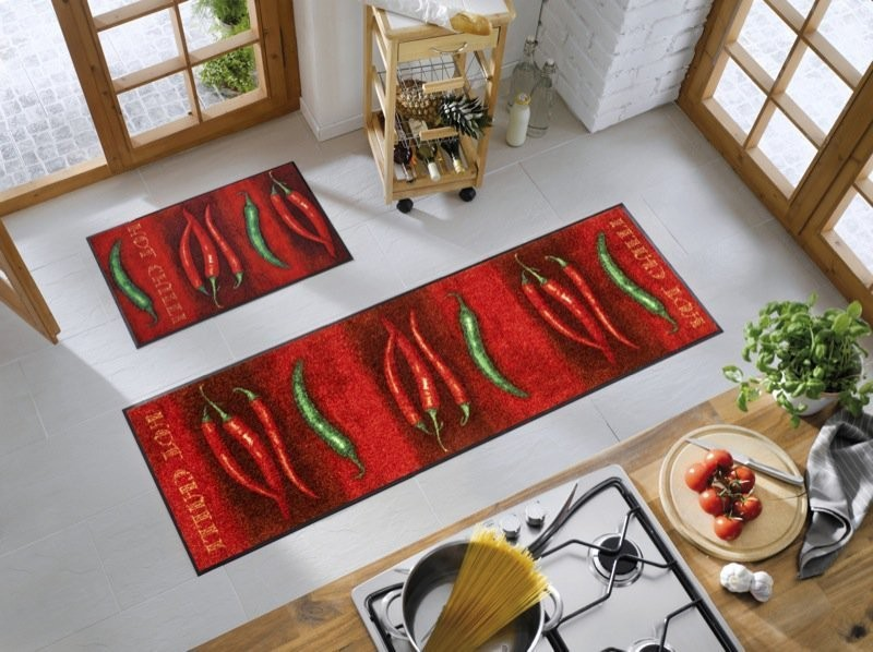Tapis hot chili d cor piments wash dry by kleen tex gallazzini arts de - Tapis de cuisine casa ...