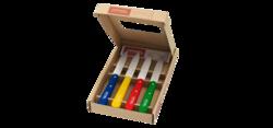 Coffret 4 couteaux d'office couleur -opinel- Disponible aussi au magasin Gallazzini Pau - Voir en grand