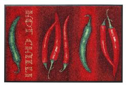 Tapis - Hot Chili décor piments - Wash+Dry by Kleen-Tex - Disponible aussi au magasin Gallazzini   - Voir en grand