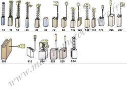 Charbons adaptable sur matériel électroportatif BOSCH chez www.martin-motoculture.fr - Voir en grand