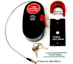 Antivol sonore à câble lockalarm en vente sur www.martin-motoculture.fr - Voir en grand