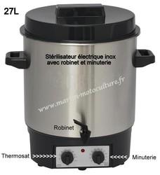 Stérilisateur INOX electrique avec robinet et minuterie www.martin-motoculture.fr - Voir en grand