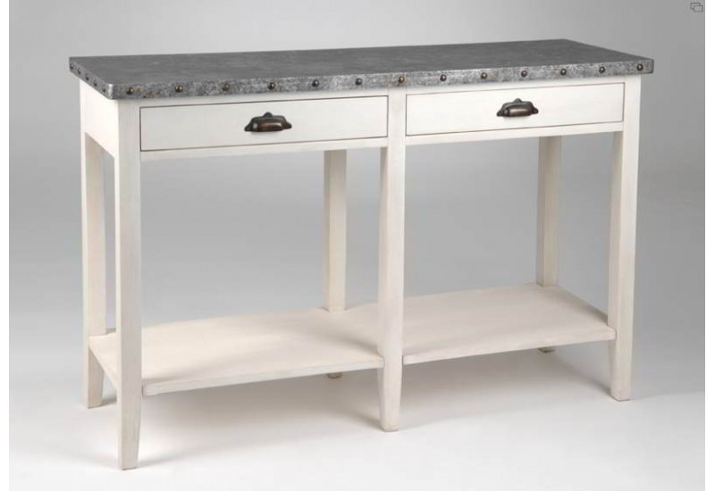 Console drapier zinc amadeus maison and deco for Amadeus decoration