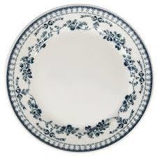 assiette plate faustine bleu - Voir en grand