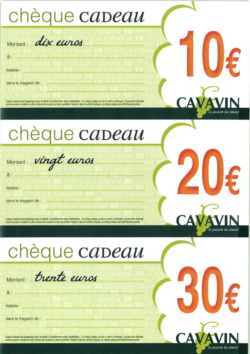 cheque cadeaux et liste de mariage 10 20 30 cavavin cavavin franchis ind pendant. Black Bedroom Furniture Sets. Home Design Ideas