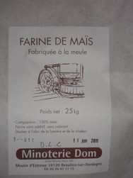farine de maïs  - farines - MINOTERIE DOM - Voir en grand