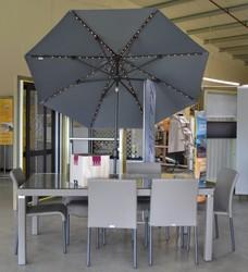 Ensemble VLAEMYNCK + Parasol ECLAT DE NUIT - Mobilier de jardin - BROCH HABITAT - Voir en grand