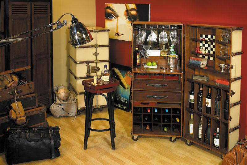 malle de voyage bar ou bureau authentic models antan et. Black Bedroom Furniture Sets. Home Design Ideas