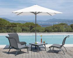 Ensemble parasol, chauffeuse et table Summer - Mobilier de jardin - BROCH HABITAT - Voir en grand