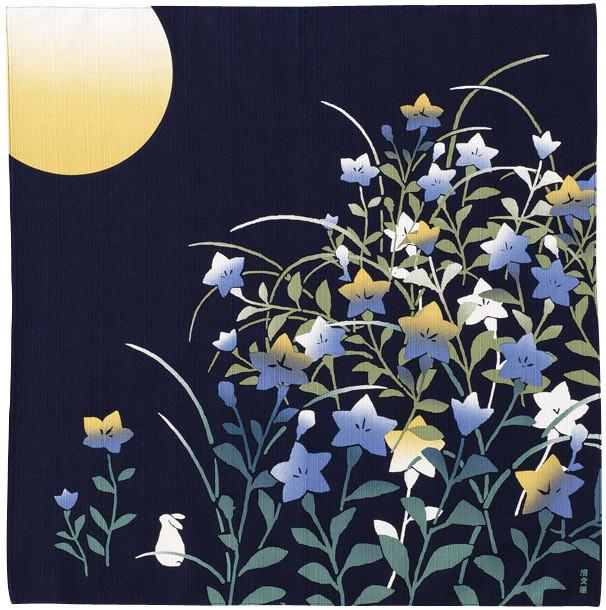 furoshiki 50 cm lune et campanule comptoir du japon. Black Bedroom Furniture Sets. Home Design Ideas