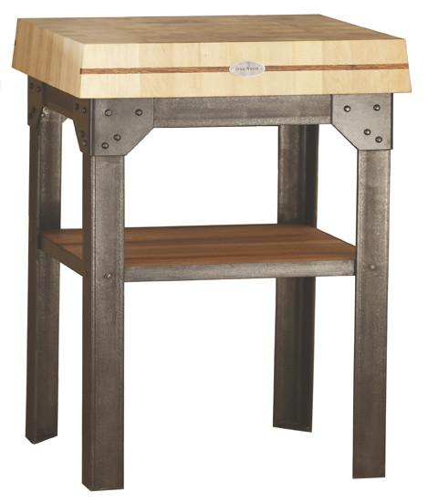 billot de cuisine sur pi tement en acier mbe 21. Black Bedroom Furniture Sets. Home Design Ideas