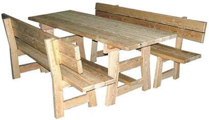 Ensemble familial m l ze mbe 21 - Plateau bois pour table exterieur ...