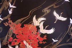 Yukata court noir - Voir en grand