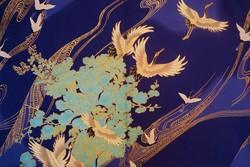 Yukata court bleu - Voir en grand
