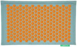 Tapis Champ de Fleurs Pranamat turquoise orange - Santé : Tapis Champ de Fleurs Pranamat - FORME & ZEN - Voir en grand