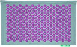 Tapis Champ de Fleurs Pranamat turquoise violet - Santé : Tapis Champ de Fleurs Pranamat - FORME & ZEN - Voir en grand