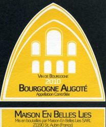 Bourgogne Aligoté  - Vins de Bourgogne Blancs - Maison En Belles Lies - Voir en grand