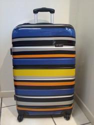 Valise à rayures multicolores REF 928 28 POUCES - Valises - CORDONNERIE SAINT HONORE - Voir en grand