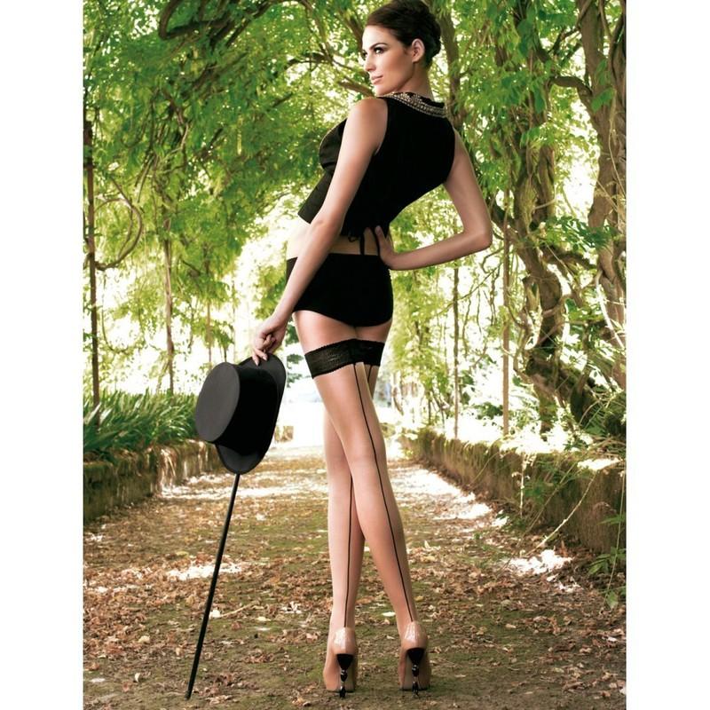 trasparenze bas up jessy autoreggente couture bas baguette r tro sexy un temps pour elle. Black Bedroom Furniture Sets. Home Design Ideas