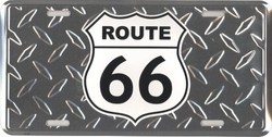 """Plaque déco métallique """"Route sixty six"""" - PLAQUES METALLIQUES - DECO US COUNTRY - Voir en grand"""