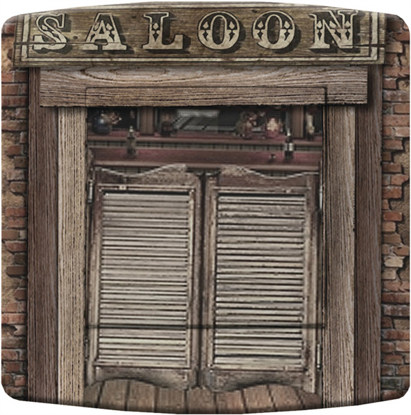 Interrupteur d cor western country saloon deco us country for Porte western saloon