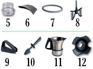Accessoires robot thermomix vorwerk tm21 bol couteaux joint mena isere serv - Pieces detachees thermomix tm31 ...