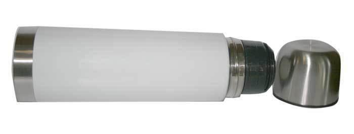 bouteille isotherme aluminium bross laqu blanc grenoble amalgame imprimeur graveur. Black Bedroom Furniture Sets. Home Design Ideas