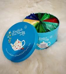 Boite Ronde English tea shop - Tisanes, thés et infusions - AUX GOUTS DU TERROIR - Voir en grand