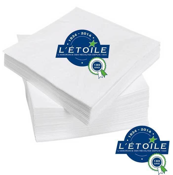 serviette papier jetable personnalis e professionnels grenoble amalgame imprimeur graveur. Black Bedroom Furniture Sets. Home Design Ideas