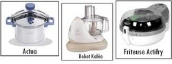 Cocotte minute actua seb, robot culinaire Kal�o seb et friteuse Actifry Seb - Voir en grand