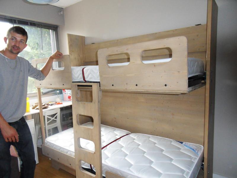 lit superpos escamotable 12 vercors literie. Black Bedroom Furniture Sets. Home Design Ideas