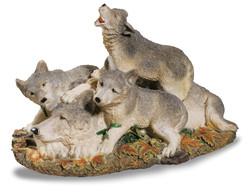 Famille loups foret - DECORATIONS WESTERN / AMERINDIENS - DECO US COUNTRY - Voir en grand