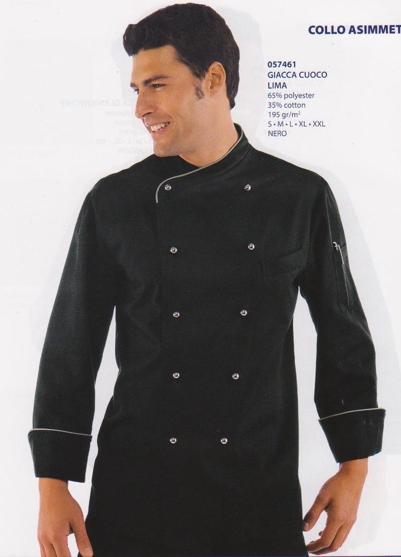 Veste cuisine noire isacco v tements linge de maison for Vetements de cuisine