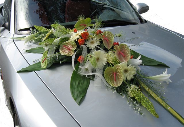 Decoration Roues Voiture Mariage
