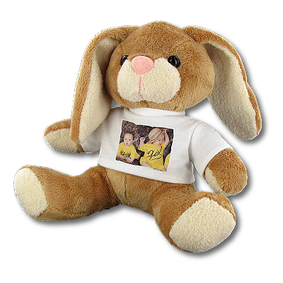 lapin en peluche personnalis avec photo time 39 s cadeaux personnalises. Black Bedroom Furniture Sets. Home Design Ideas