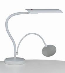 Lampe blanche sur socle de table - Voir en grand