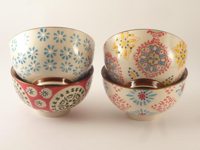 set petits bols bohemian - Voir en grand