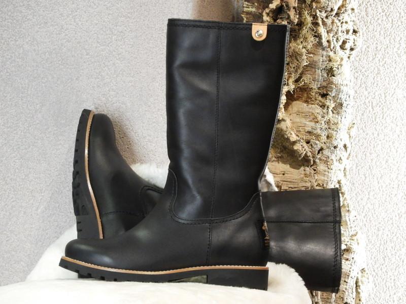 Bottes cuir waterproof noir PANAMA JACK  - Voir en grand