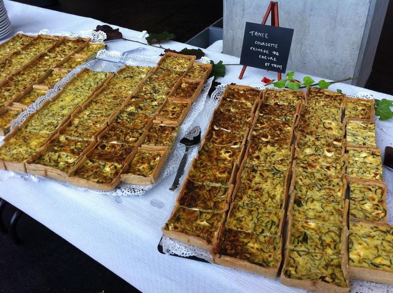 Buffet repas : tartes - Voir en grand